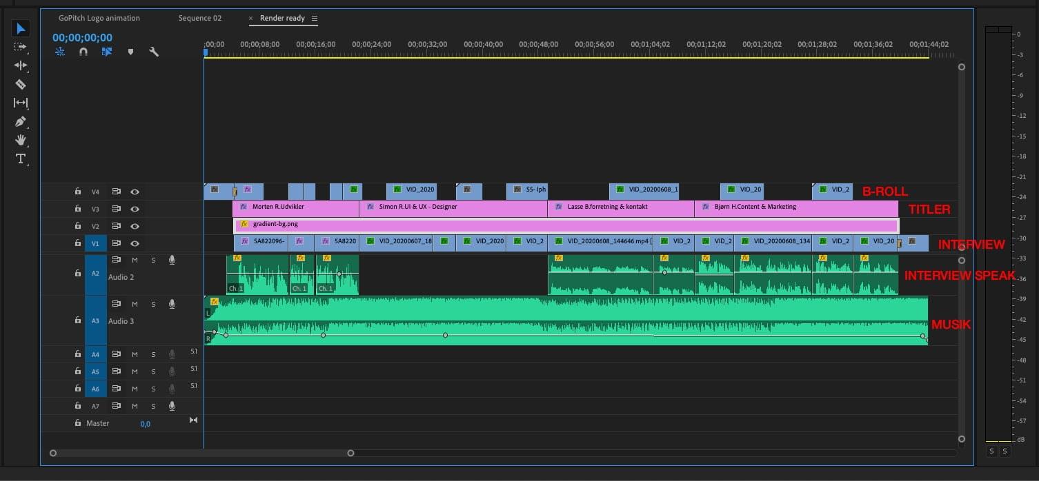 klippestruktur i pitch video