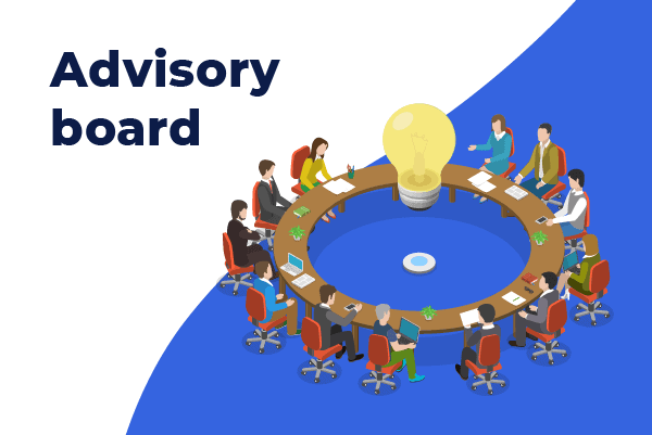 advisory board omkring et rundt bord